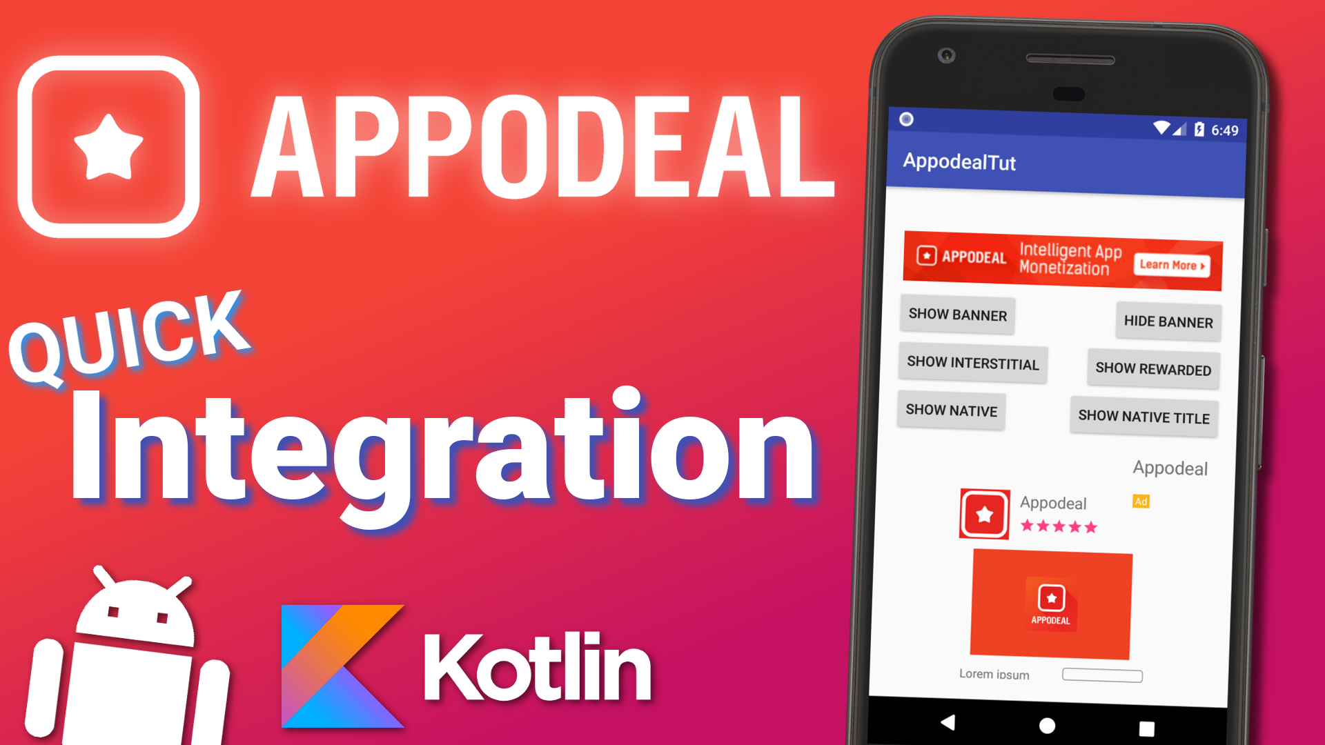 Appodeal Android Integration
