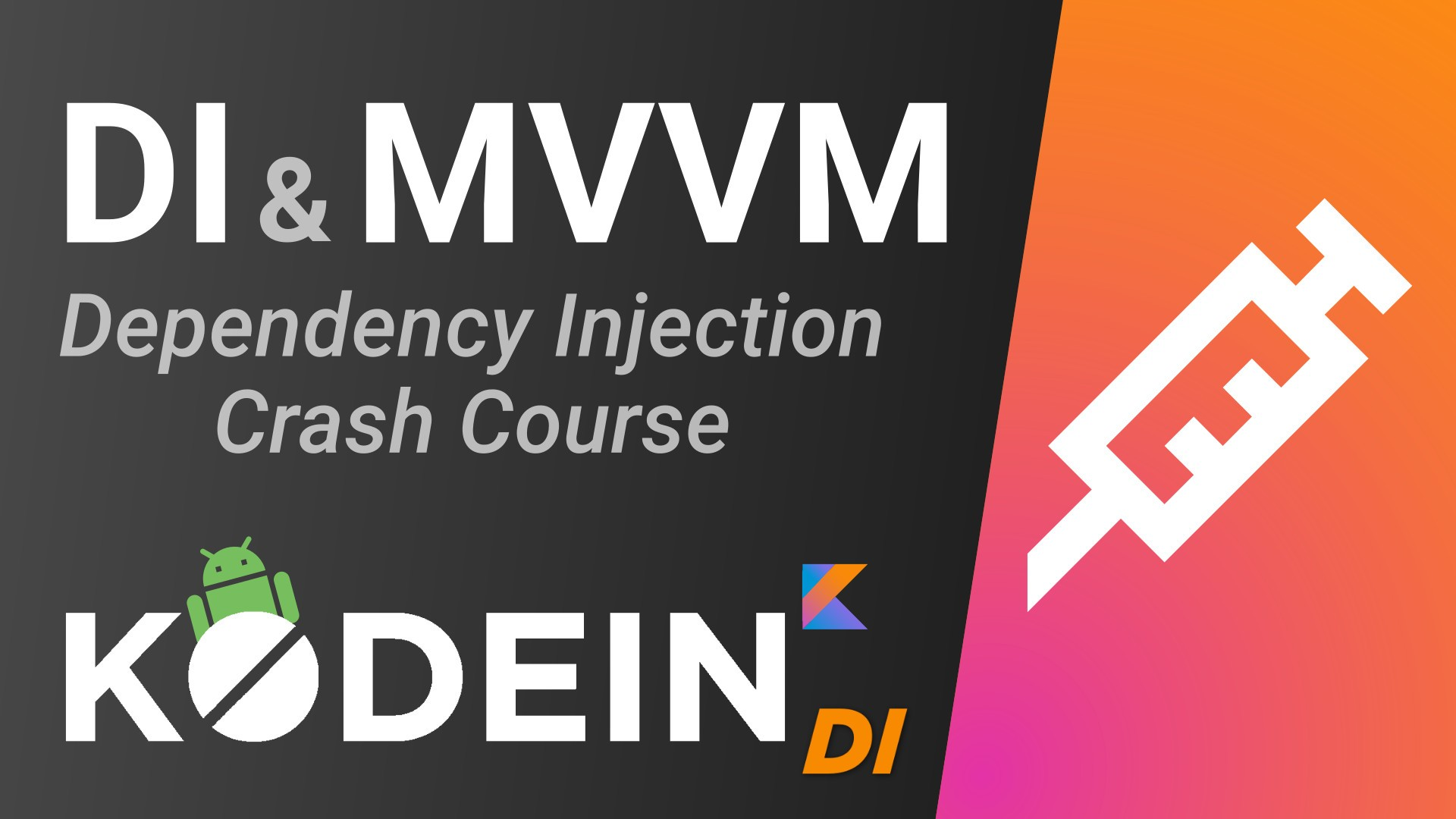Dependency Injection Kodein MVVM